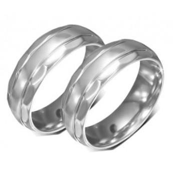Snubní prsteny chirurgická ocel 1 pár LRRR180
