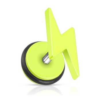 Piercing falešný plug blesk HWPSFX57
