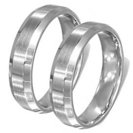 Snubní prsteny chirurgická ocel 1 pár LLRC381