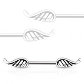 Piercing do bradavky chirurgická ocel křídla HWKR12778