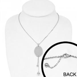 Náhrdelník chirurgická ocel medailon LCAT460