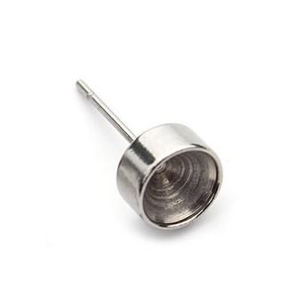 Ocelové náušnicové lůžko pro 6 mm kámen
