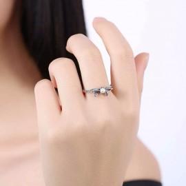 Stříbrný prstýnek mašlička