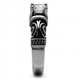 Prsten chirurgická ocel s kamínkem HWM2245