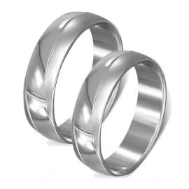 Snubní prsteny chirurgická ocel 1 pár LLRC421