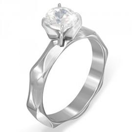 Prsten chirurgická ocel s kamínkem LREE038