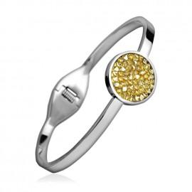 Ocelový náramek s krystaly Crystals from Swarovski® GOLDEN SHADOW