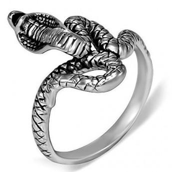 96e103b5c Prsten chirurgická ocel had kobra LRMT163 Ocelové prsteny