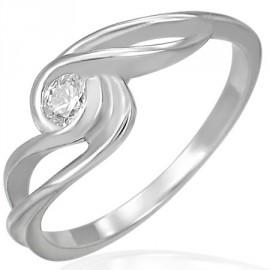 Prsten chirurgická ocel s kamínkem LRCZ081