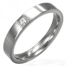 Prsten chirurgická ocel s kamínkem LXRB016