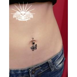 Piercing do pupíku motýl s lebkami HWNSR6446