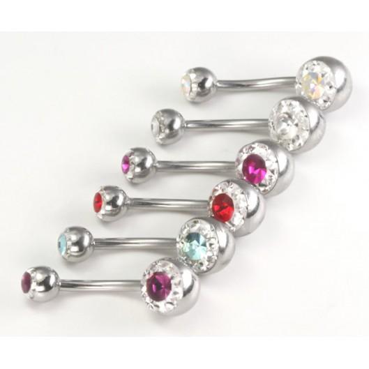 Piercing do pupíku se Swarovski krystalky PPMN1398