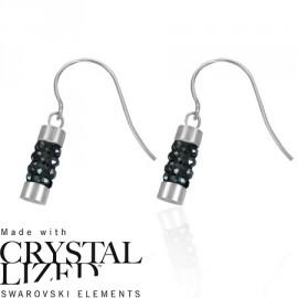 Naušnice chirurgická ocel se Swarovski krystalky LEES094