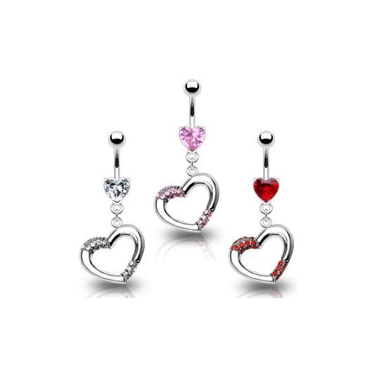 Piercing do pupíku srdce WP01173