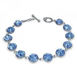 Náramek chirurgická ocel s krystaly Swarovski LCBR018