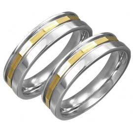 Snubní prsteny chirurgická ocel 1 pár LLRC166