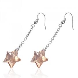 Naušnice chirurgická ocel s kamínkem hvězda LBEL232