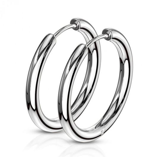 Ocelové náušnice - kruhy 21 mm