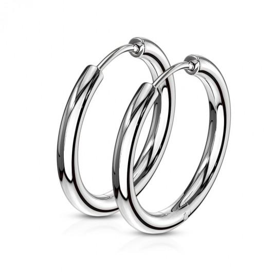 Ocelové náušnice - kruhy 19 mm