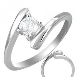 Prsten chirurgická ocel s kamínkem LZRC011