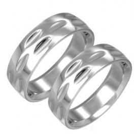 Snubní prsteny chirurgická ocel 1 pár LARB012