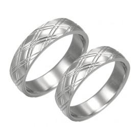 Snubní prsteny chirurgická ocel 1 pár LPRB073