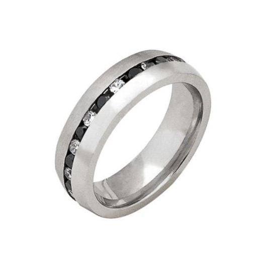 Prsten chirurgická ocel s kamínky TRSLD11