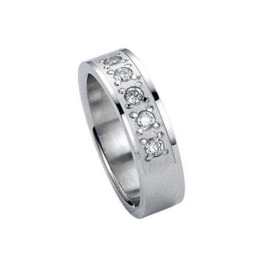 Prsten chirurgická ocel s kamínky RSSJ04