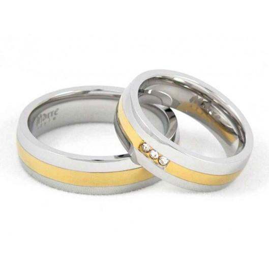 Snubní prsteny chirurgická ocel MAR001