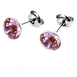 Naušnice ESSW11 rose s krystaly Swarovski Elements