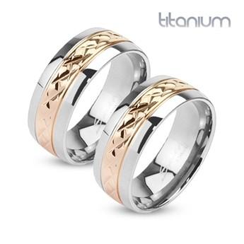 Snubní prsteny titan HKTT1038
