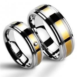 Snubní prsteny wolfram HKNWF1024z