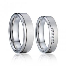Snubní prsteny chirurgická ocel AE012b