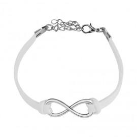 Stříbrný náhrdelník - křížek se zirkony