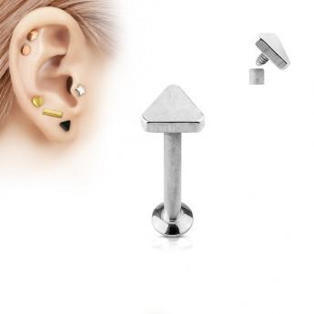 ba929126c Piercing do brady - labreta 1,2 x 6 mm, trojúhelník Piercing do brady