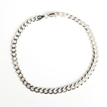 Stříbrný náramek pancer, délka 21 cm