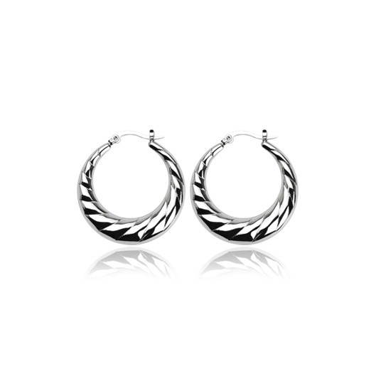 Ocelové náušnice - kruhy