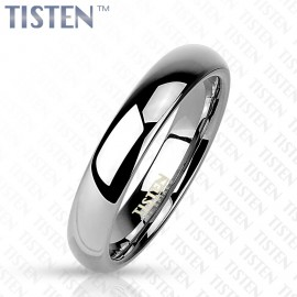 Tistenový prsten leštěný, šíře 4 mm