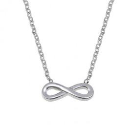 Ocelový náhrdelník s přívěškem - nekonečno