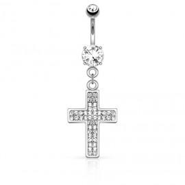 Piercing do pupíku - křížek