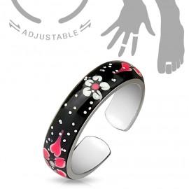 Prsten na nohu s barevným dekorem