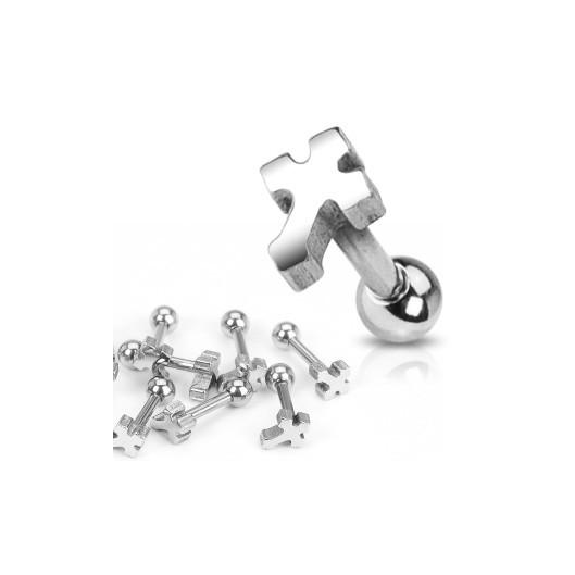 Cartilage piercing do ucha - kříž