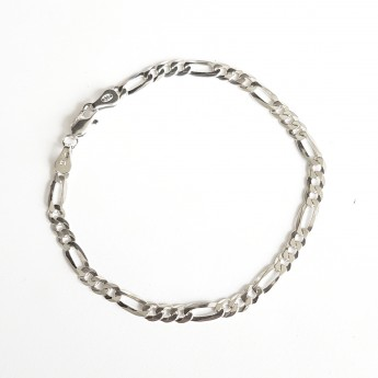 Stříbrný náramek figaro, délka 21 cm