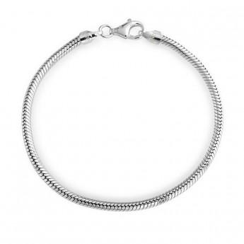 Stříbrný náramek had 3 mm, délka 18 cm