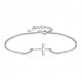 Stříbrný náramek křížek