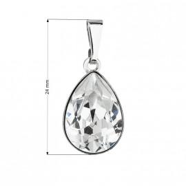 Přívěsek bižuterie se Swarovski krystaly bílá slza 54016.1