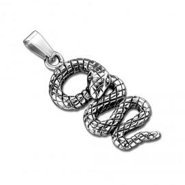 Ocelový přívěšek - had