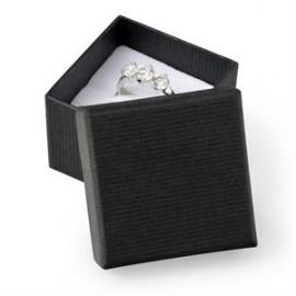 Dárková krabička na prsten - černá