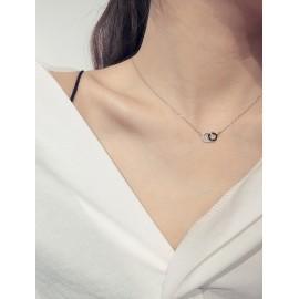 Stříbrný náhrdelník kroužky