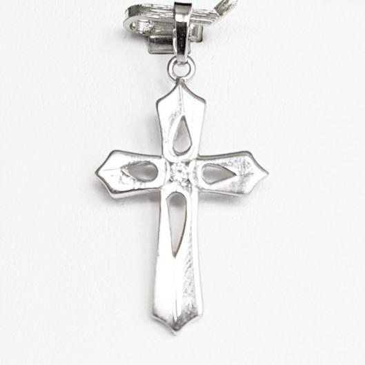 Stříbrný přívěšek křížek se zirkonem